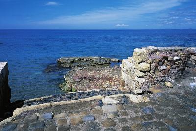 Ruins of Port of Clementine, Gravisca, Lazio, Italy--Giclee Print