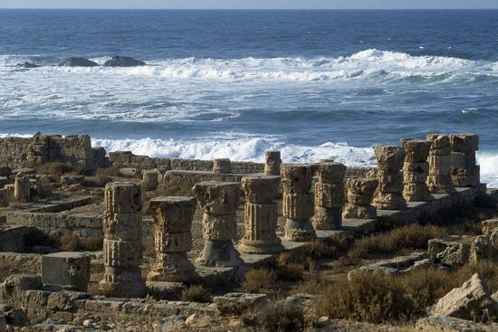 Ruins of Roman Baths, Greco-Roman City of Apollonia, Marsa Susa, Cyrenaica, Libya--Giclee Print