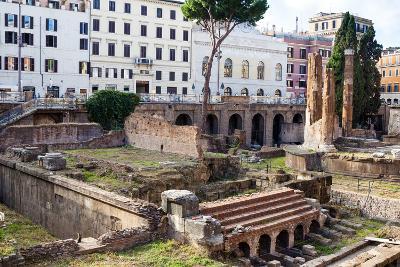 Ruins of Roman Temples at Area Sacra Di Largo Di Torre Argentina, Rome, UNESCO World Heritage Site-Nico Tondini-Photographic Print