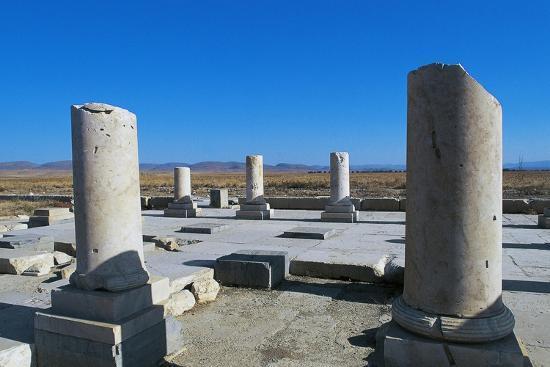Ruins of Royal Palace of Cyrus Great, Pasargad--Photographic Print