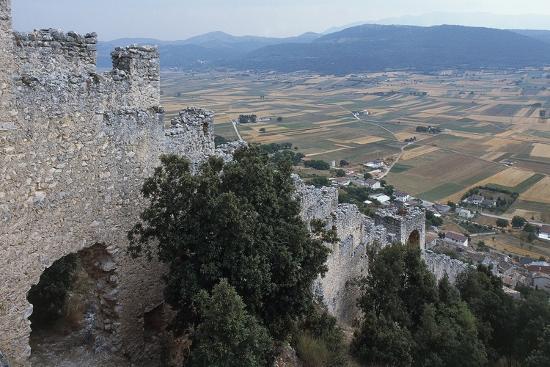 Ruins of San Pio Delle Camere Castle and Walled Village, 12th-16th Century, Abruzzo, Italy--Photographic Print