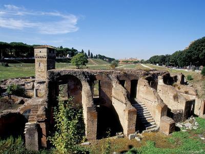 Ruins of Septizodium, Circo Massimo, Rome, Lazio, Italy-Ken Gillham-Photographic Print