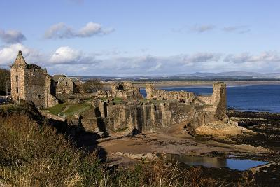 Ruins of St Andrews Castle (Founded in 1200), St Andrews Bay, Scotland, United Kingdom--Photographic Print
