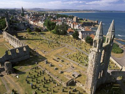 Ruins of St. Andrews Cathedral, Dating from the 14th Century, St. Andrews, Fife, Scotland-Patrick Dieudonne-Photographic Print