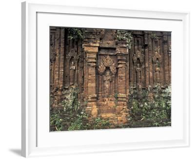 Ruins of Temple, My Son, Vietnam-Keren Su-Framed Photographic Print