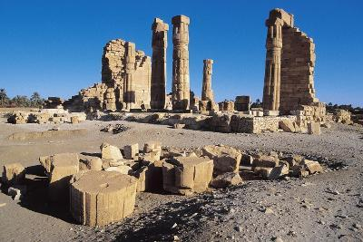 Ruins of Temple of Soleb, Commissioned by Pharaoh Amenhotep III, Nubia, Sudan--Giclee Print