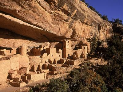 Ruins of the Anasazi Cliff Palace Occupied Between A.D. 550 and 1300-Ira Block-Photographic Print