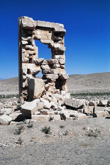 Ruins of the Archaeological Site of Pasargad--Photographic Print