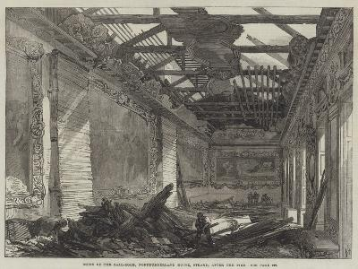 Ruins of the Ball-Room, Northumberland House, Strand, after the Fire--Giclee Print