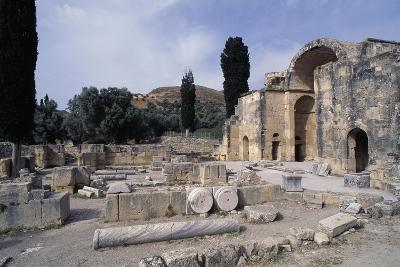 Ruins of the Basilica of Agios Titos, Gortis or Gortyn, Crete, Greece, 6th Century--Giclee Print