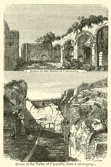 Ruins of the Baths of Caracalla--Giclee Print