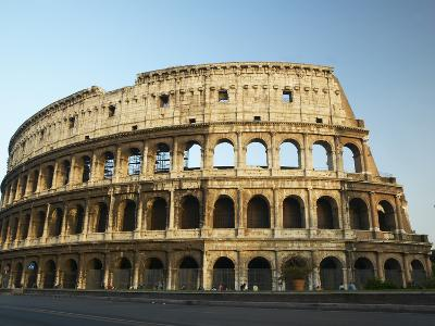 Ruins of the Coliseum in Rome Against Blue Sky--Photographic Print