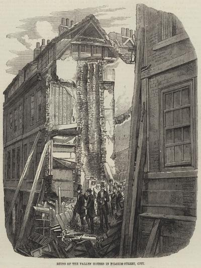 Ruins of the Fallen Houses in Pilgrim-Street, City--Giclee Print