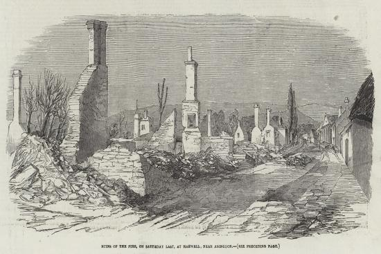 Ruins of the Fire, on Saturday Last, at Harwell, Near Abingdon--Giclee Print