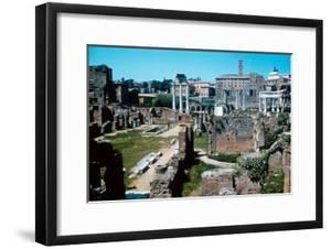 Ruins of the Forum, Rome with the House of the Vestals on the Left