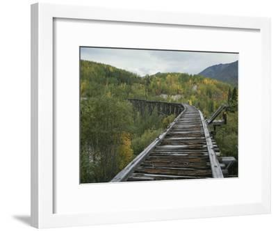 Ruins of the Gilahina Trestle Bridge on the Copper River Railway-George Herben-Framed Photographic Print