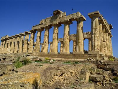 Ruins of the Greek Temples at Selinunte on the Island of Sicily, Italy, Europe-Newton Michael-Photographic Print