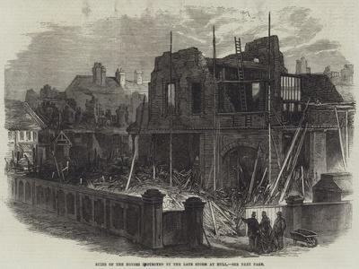 Ruins of the Houses Destroyed by the Late Storm at Hull--Giclee Print