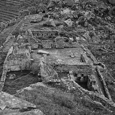 Ruins of the Lost City of the Incas Seen from Above, Machu Picchu, Peru-Pietro Ronchetti-Photographic Print