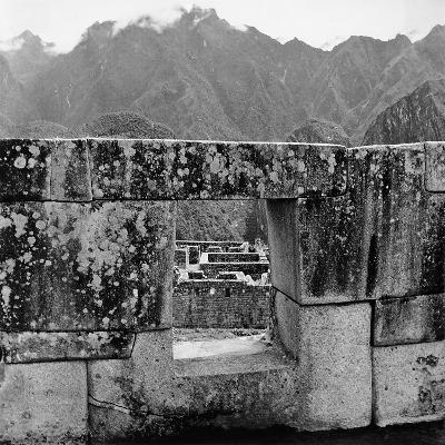 Ruins of the Lost City of the Incas, Seen from an Opening in the Wall-Pietro Ronchetti-Photographic Print