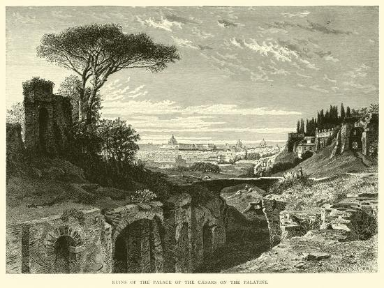 Ruins of the Palace of the Caesars on the Palatine--Giclee Print