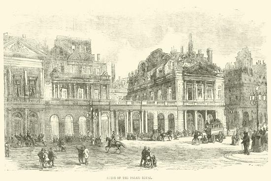 Ruins of the Palais Royal, May 1871--Giclee Print