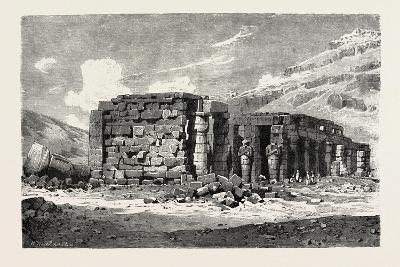 Ruins of the Ramesseum, Egypt, 1879--Giclee Print