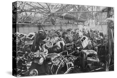 Ruins of the Renault Factory, Boulogne-Billancourt, Paris, C1942