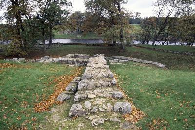 Ruins of the Second Bridge of Chesters, Chesters Roman Fort, Hadrian's Wall--Photographic Print