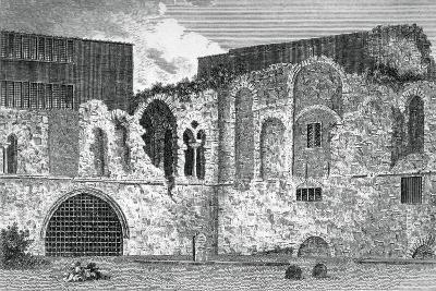 Ruins of the South Transept, Church of St Bartholomew-The-Great, Smithfield, City of London, 1800--Giclee Print