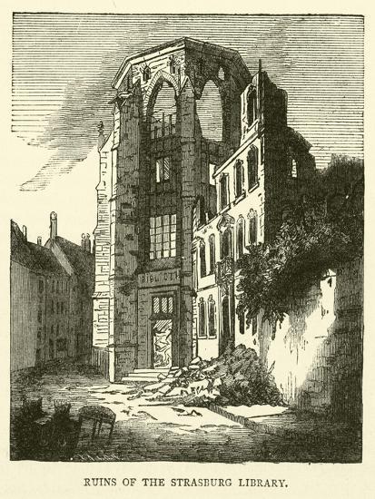 Ruins of the Strasburg Library, September 1870--Giclee Print