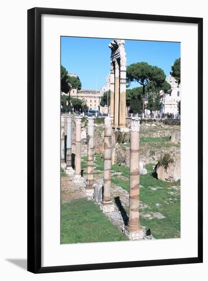 Ruins of the Temple of Castor and Pollux, the Forum, Rome--Framed Photographic Print