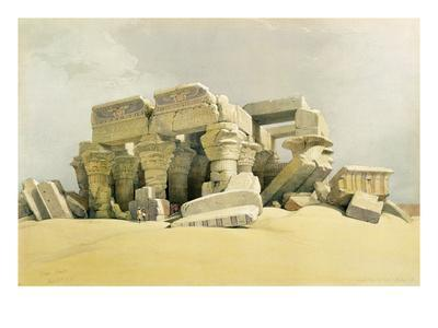 """Ruins of the Temple of Kom Ombo, from """"Egypt and Nubia"""", Vol.1 (Litho) (See also 84718)-David Roberts-Premium Giclee Print"""