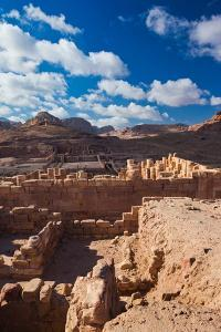 Ruins of the Temple of the Winged Lions at Ancient Nabatean City of Petra, Wadi Musa, Ma'an Gove...