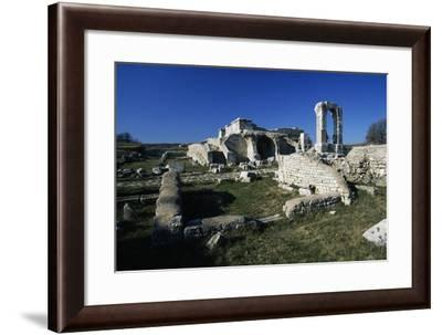 Ruins of Thermal Baths of Carsulae, Umbria, Italy--Framed Giclee Print