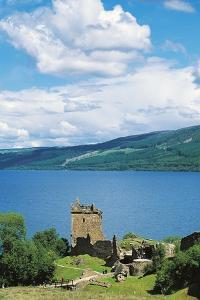 Ruins of Urquhart Castle on Banks of Loch Ness, Drumnadrochit, Scotland, United Kingdom