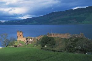 Ruins of Urquhart Castle on the Banks of Loch Ness, Drumnadrochit, Scotland, Uk