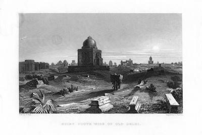 Ruins South Side of Old Delhi, India, 19th Century-G Hamilton-Giclee Print