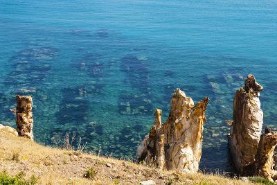 Ruins Underwater of Roman Houses, Les Aiguilles, Tabarka, Tunisia, North Africa-Nico Tondini-Photographic Print
