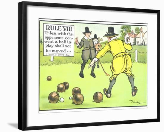 Rule VIII: Unless with the Opponents Consent a Ball in Play Shall Not be Moved-Charles Crombie-Framed Giclee Print