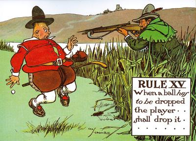 Rules of Golf - Rule XV-Charles Crombie-Art Print