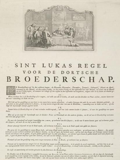 Rules of the Guild of Saint Luke in Dordrecht, 1736-Aert Schouman-Giclee Print
