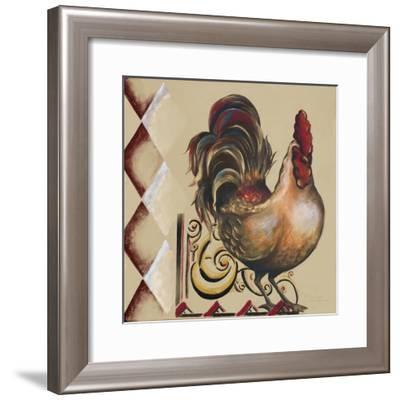 Rules the Roosters Square II-Tiffany Hakimipour-Framed Art Print