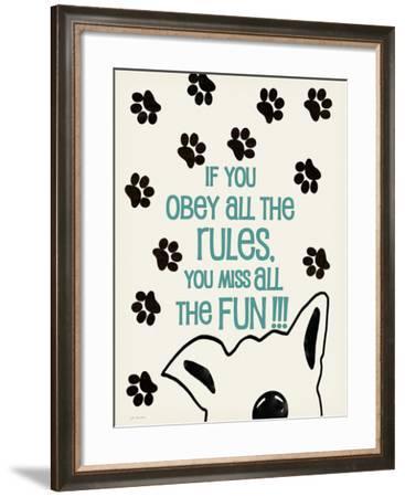 Rules-Jo Moulton-Framed Art Print