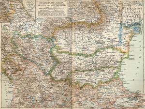 Rumania, Bulgaria, Serva and Montenegro, c1906, (1907)