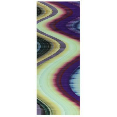 Rumba Abstract 3 - Free Floating Tempered Glass Panel Graphic Wall Art