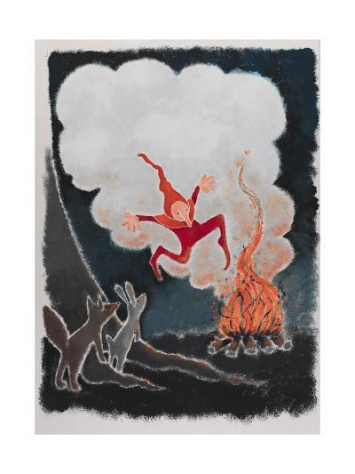 Rumpelstiltskin Dancing in the Night-Susie Jenkin Pearce-Art Print