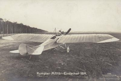 Rumpler Military Monoplane Aircraft, Germeny, 1914--Photographic Print