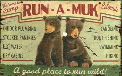 Run-A-Muk Wood Sign
