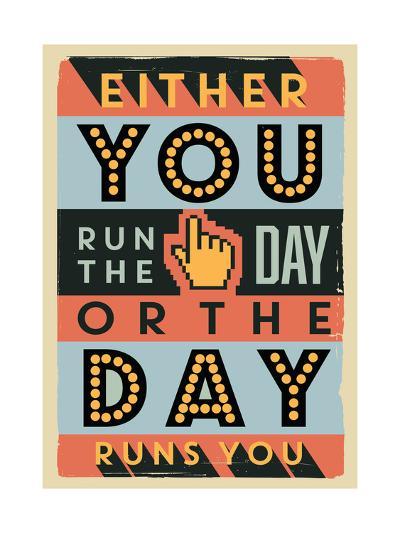 Run the Day-Vintage Vector Studio-Art Print